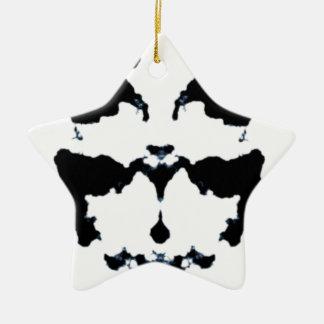 Inkblot van Rorschach Keramisch Ster Ornament