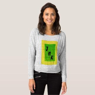 INKT Dame T-shirt, lange sleeves, geel en groen Longsleeve
