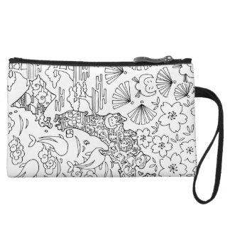 Inkt: De Kosmetische Zak van JAPAN/MiniKoppeling Handtasje