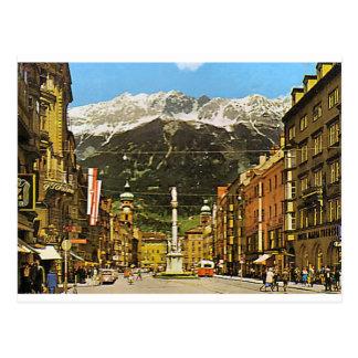 Innsbruck, Maria Theresa Strasse, 1950 Briefkaart