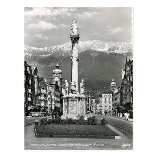 Innsbruck, Maria Theresa Strasse, Tram Briefkaart