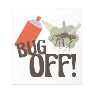 Insect weg! notitieblok