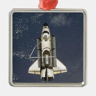 Inspanning 16 van de ruimtependel zilverkleurig vierkant ornament