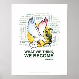 """Inspiratie van Vrede - 11"""" x 14"""", Poster (Steen)"""