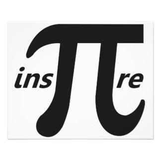 Inspireer het Inspirerend Symbool van Pi Gepersonaliseerde Folder
