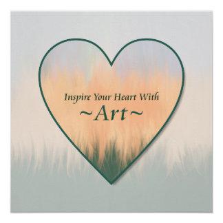 Inspireer Uw Hart met Zonsondergang van de Zomer Poster