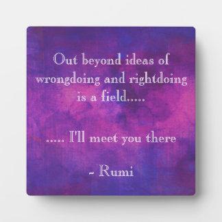 Inspirerend Citaat Rumi op een Paarse Achtergrond Fotoplaat