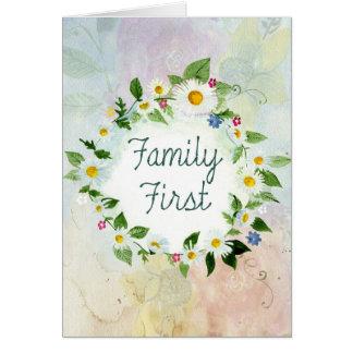 Inspirerend Citaat van de familie het eerst Kaart