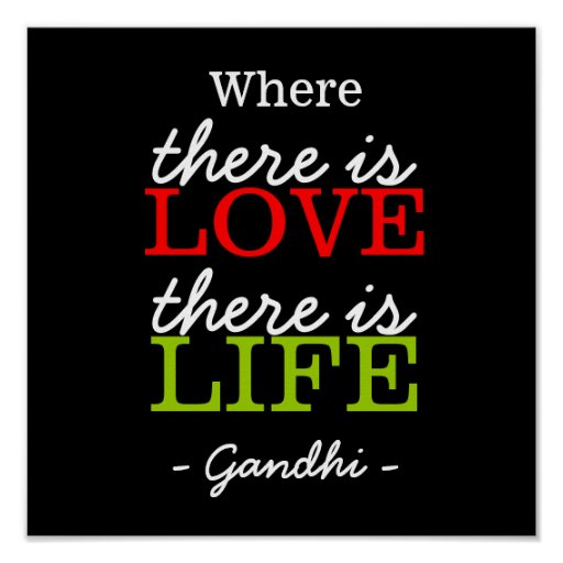Citaten Gandhi : Inspirerend citaten gandhi het leven van de poster zazzle