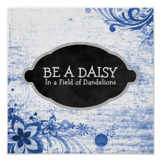 Inspirerend Daisy Flower Quote Girly Poster