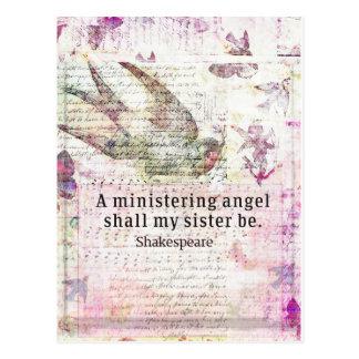 Inspirerend de zustercitaat van Shakespeare Briefkaart