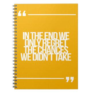 Inspirerend en motivatie citaten notitieboek