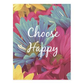 Inspirerend kies de Gelukkige Bevestiging van het Briefkaart