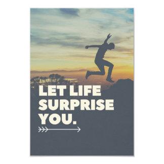 Inspirerend laat de Verrassing van het Leven u Kaart