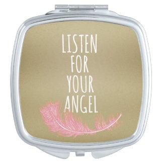 Inspirerend let op uw engelenCitaat Makeup Spiegel