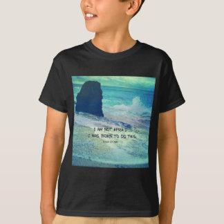 Inspirerend moedcitaat JOAN VAN het zeeoceaan van T Shirt