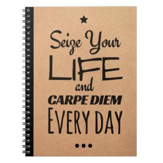 Inspirerend Notitieboekje voor Motivatie: Carpe Ringband Notitieboek
