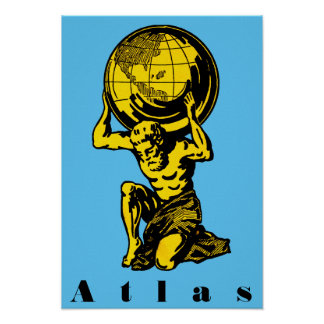 Inspirerend Poster van de Mythologie van de atlas