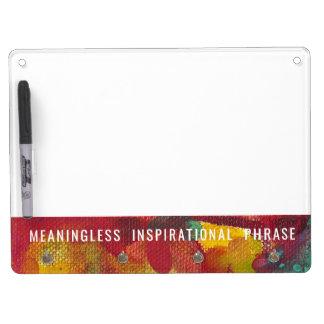 Inspirerend Uitdrukking zonder betekenis Whiteboard Met Sleutelhanger