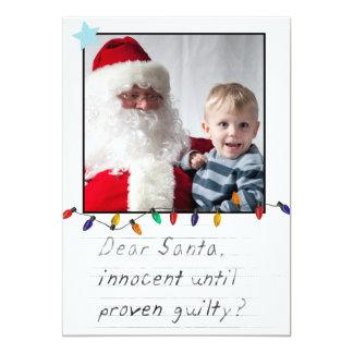 instagram de grappige kaarten van de Kerstmisfoto 12,7x17,8 Uitnodiging Kaart