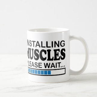 Installerend Spieren, te wachten gelieve Blauw Koffiemok