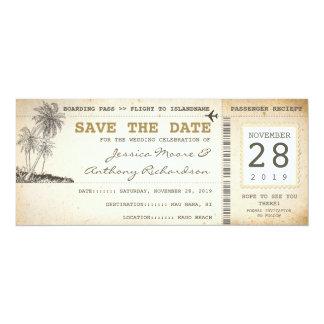 instapkaartkaartjes voor sparen de datum 10,2x23,5 uitnodiging kaart