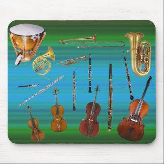Instrumenten van het Orkest Muismatten