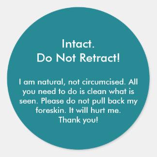 Intact, trek niet in! Sticker