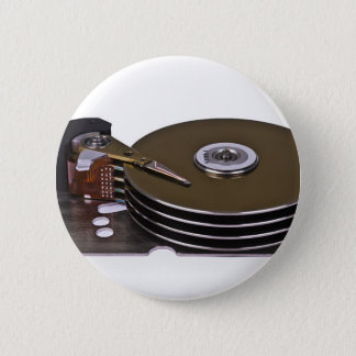 Internals van een harde schijfaandrijving ronde button 5,7 cm