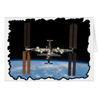 Internationaal Ruimtestation -- Gezien van Wenskaart