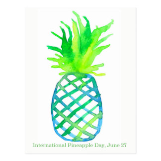 Internationale Ananas Dag 27 Juni Briefkaart