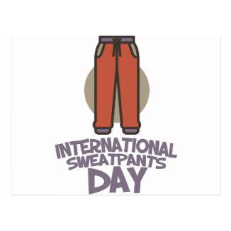 Internationale Dag Sweatpants - de Dag van de Briefkaart