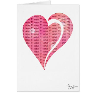 Internationale Liefde - het Italiaans Notitiekaart