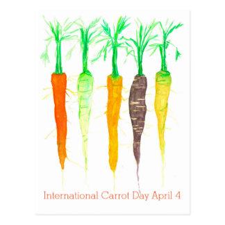Internationale Wortel Dag 4 April Waterverf Briefkaart