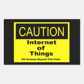 Internet van het Waarschuwingssein van de Rechthoekige Sticker