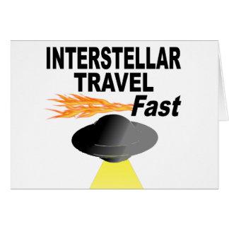Interstellaire Reis snel Briefkaarten 0