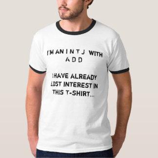 INTJ met ADD T-shirt