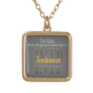 INTP theArchitect Goud Vergulden Ketting