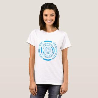 Intrigerende blauwe cirkel t shirt