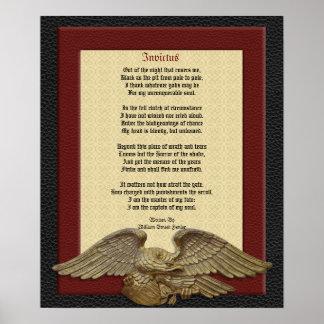 Invictus, gedichtenleer met adelaar poster