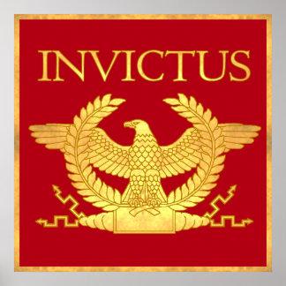 Invictus Gegraveerd Gouden poster