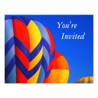 invitiation van de hete luchtballon aankondiging