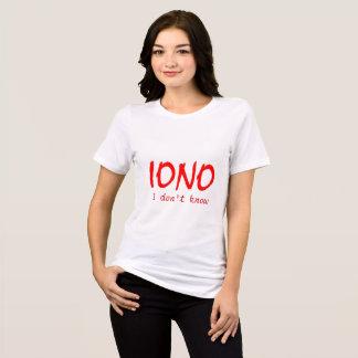 IONO die ik niet het weet T Shirt