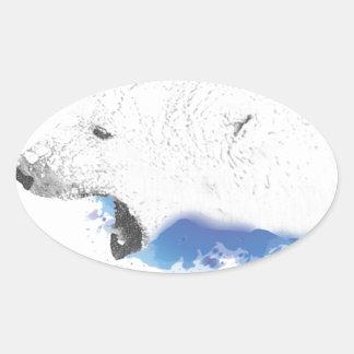 Iorek, Gepantserd Beer van Zijn Donkere Materialen Ovale Sticker