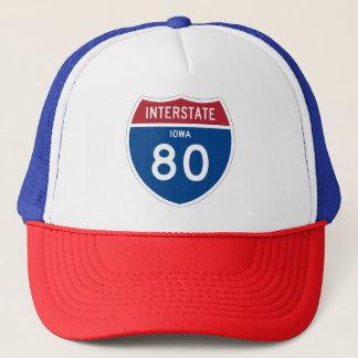 Iowa IA I-80 Schild het Tusen staten van de Weg - Trucker Pet
