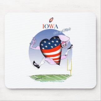 Iowa luide en trotse, tony fernandes muismat