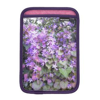 iPad de Paarse/Mauve Bloemen van het Hoesje