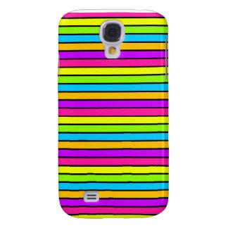 iPhone 3 van de Strepen van het neon Heldere Galaxy S4 Hoesje