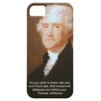 iPhone 5 geval met het citaat van Thomas Jefferson iPhone 5 Case