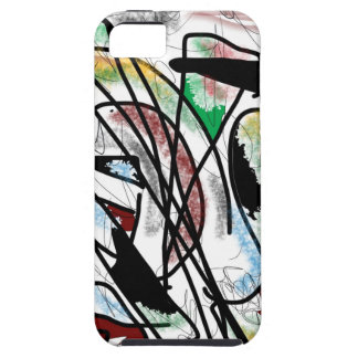 iPhone 5 hoesje, abstract art. Tough iPhone 5 Hoesje